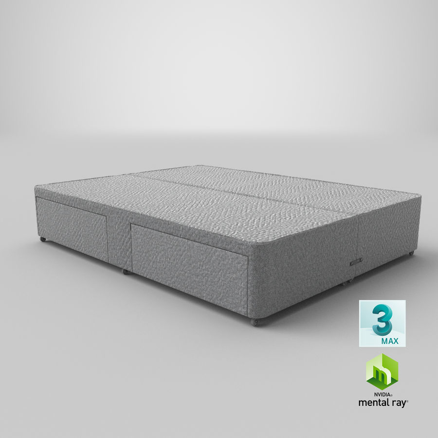 Bed Base 01 Grey royalty-free 3d model - Preview no. 24
