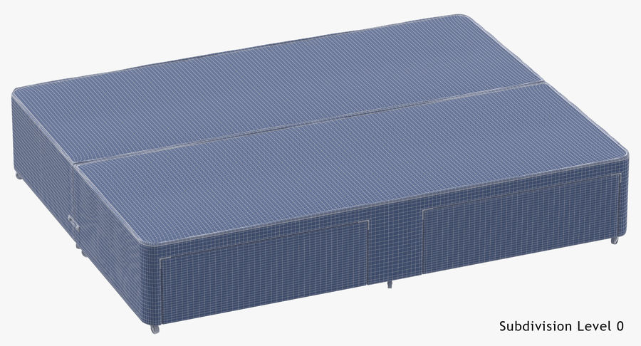 Bed Base 01 Grey royalty-free 3d model - Preview no. 18