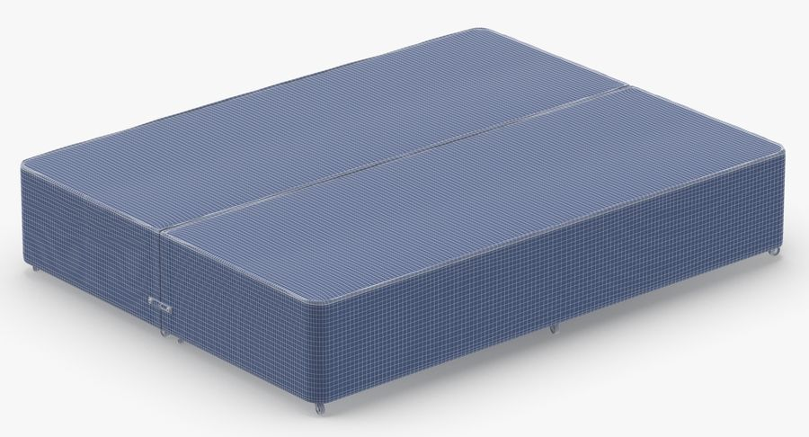 Bed Base 01 Grey royalty-free 3d model - Preview no. 14