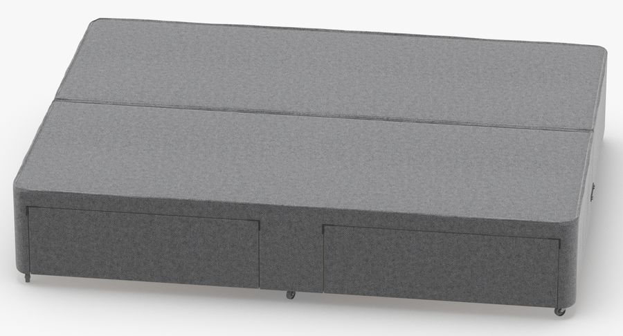Bed Base 01 Grey royalty-free 3d model - Preview no. 5