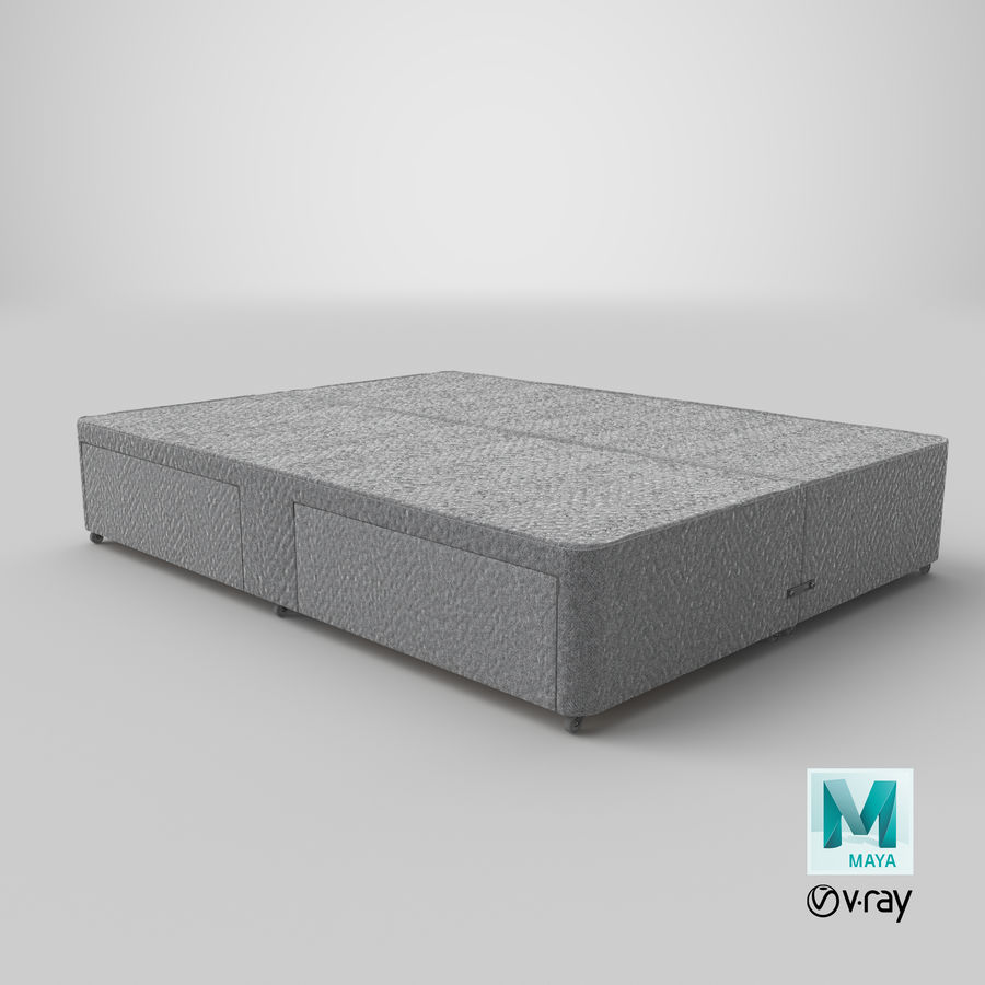 Bed Base 01 Grey royalty-free 3d model - Preview no. 28