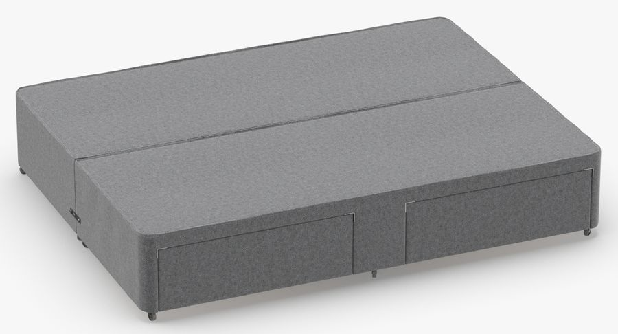 Bed Base 01 Grey royalty-free 3d model - Preview no. 3