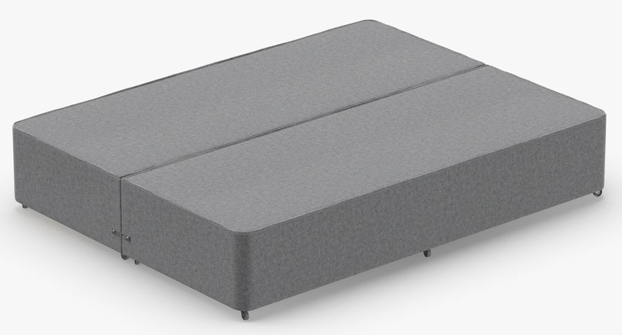 Bed Base 01 Grey royalty-free 3d model - Preview no. 6