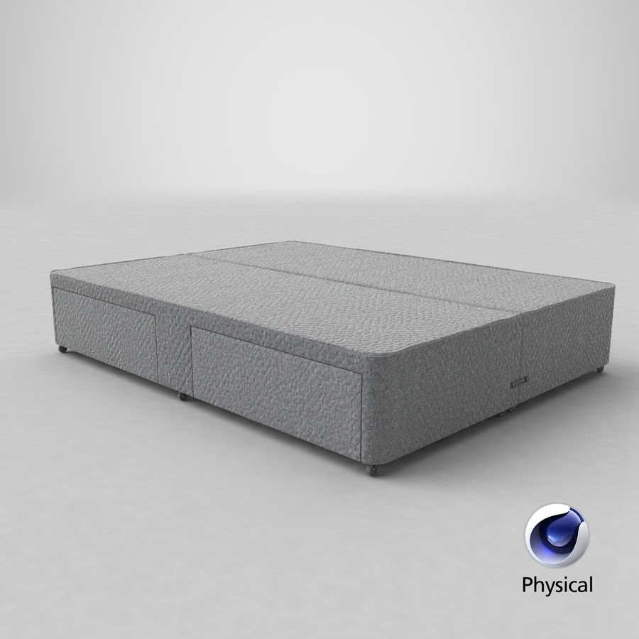 Bed Base 01 Grey royalty-free 3d model - Preview no. 21