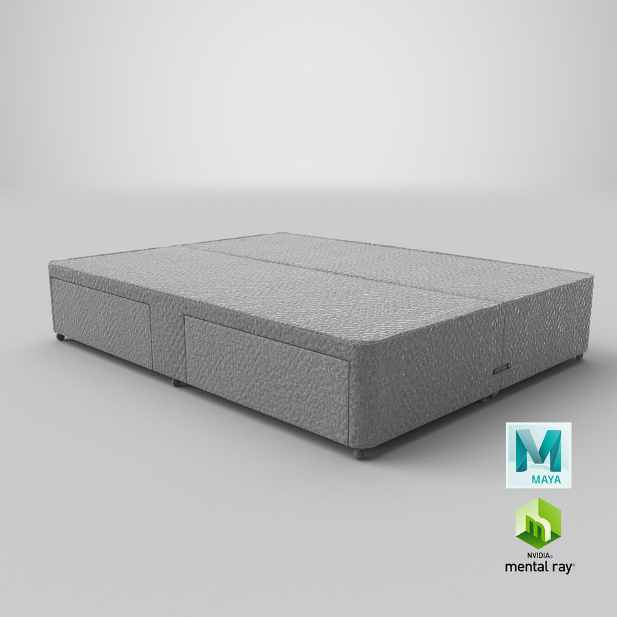 Bed Base 01 Grey royalty-free 3d model - Preview no. 27