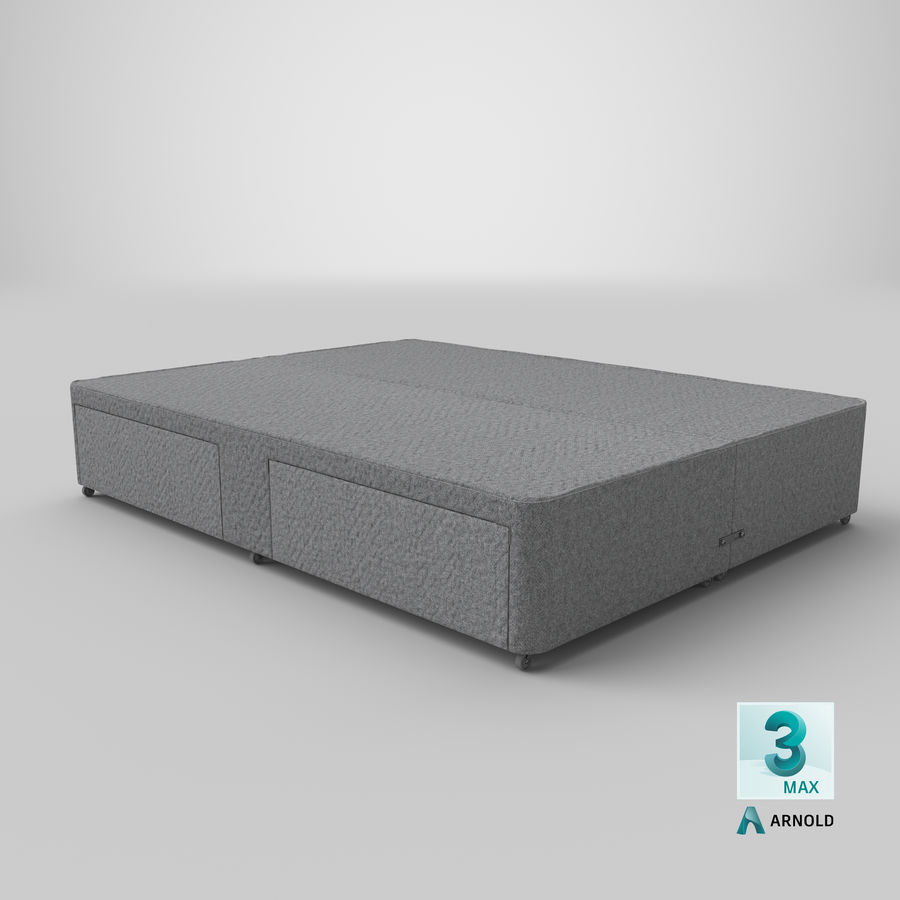 Bed Base 01 Grey royalty-free 3d model - Preview no. 23