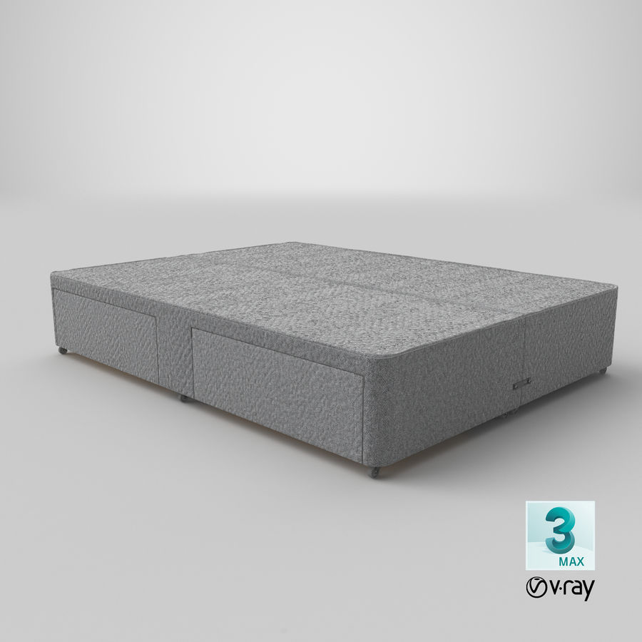 Bed Base 01 Grey royalty-free 3d model - Preview no. 25