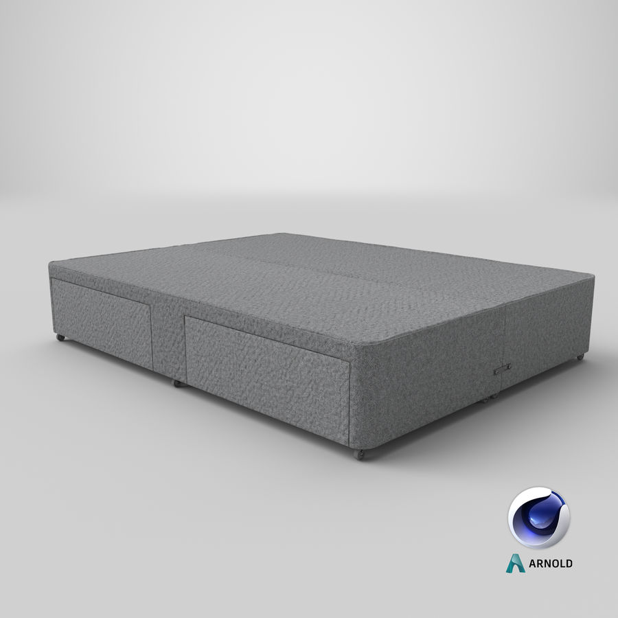 Bed Base 01 Grey royalty-free 3d model - Preview no. 22