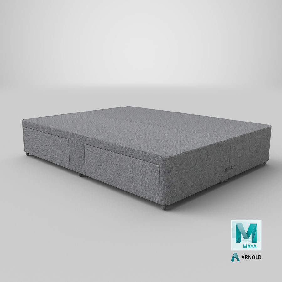 Bed Base 01 Grey royalty-free 3d model - Preview no. 26