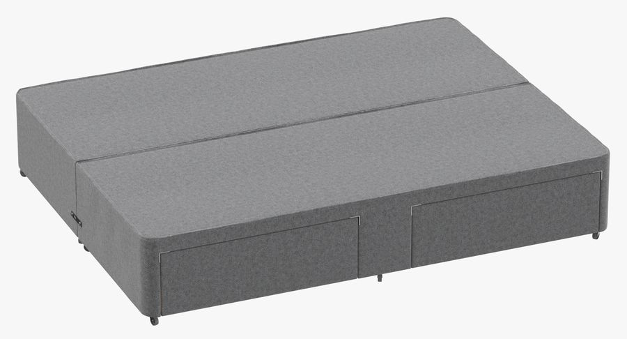 Bed Base 01 Grey royalty-free 3d model - Preview no. 2