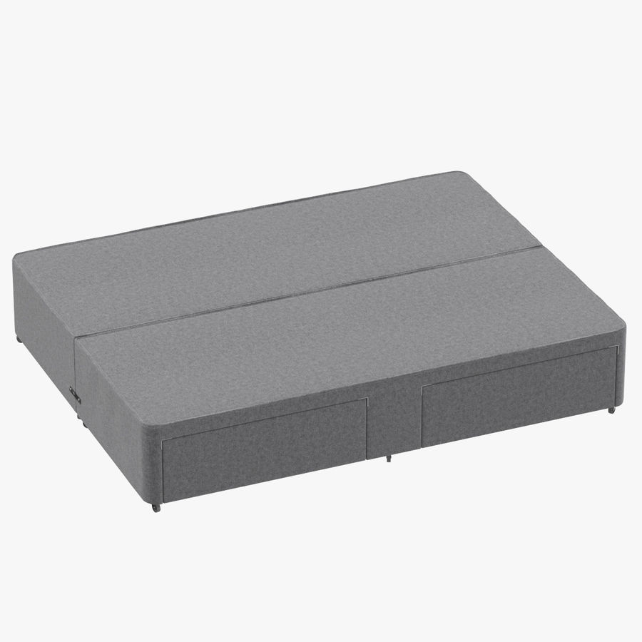 Bed Base 01 Grey royalty-free 3d model - Preview no. 1