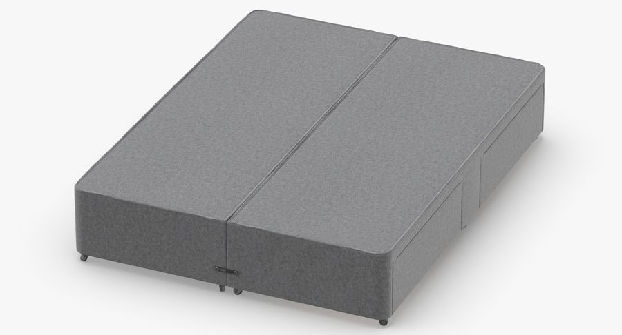 Bed Base 01 Grey royalty-free 3d model - Preview no. 4