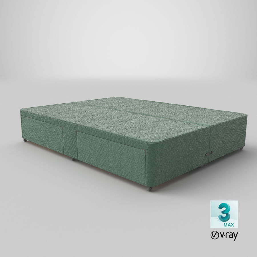 Bed Base 01 Mint royalty-free 3d model - Preview no. 25