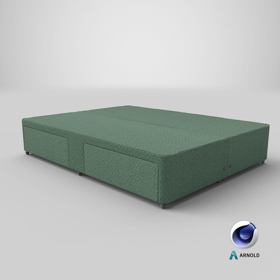 Bed Base 01 Mint royalty-free 3d model - Preview no. 22
