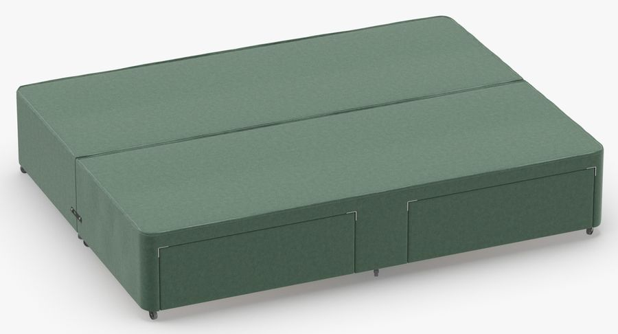 Bed Base 01 Mint royalty-free 3d model - Preview no. 3