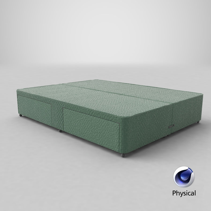 Bed Base 01 Mint royalty-free 3d model - Preview no. 21