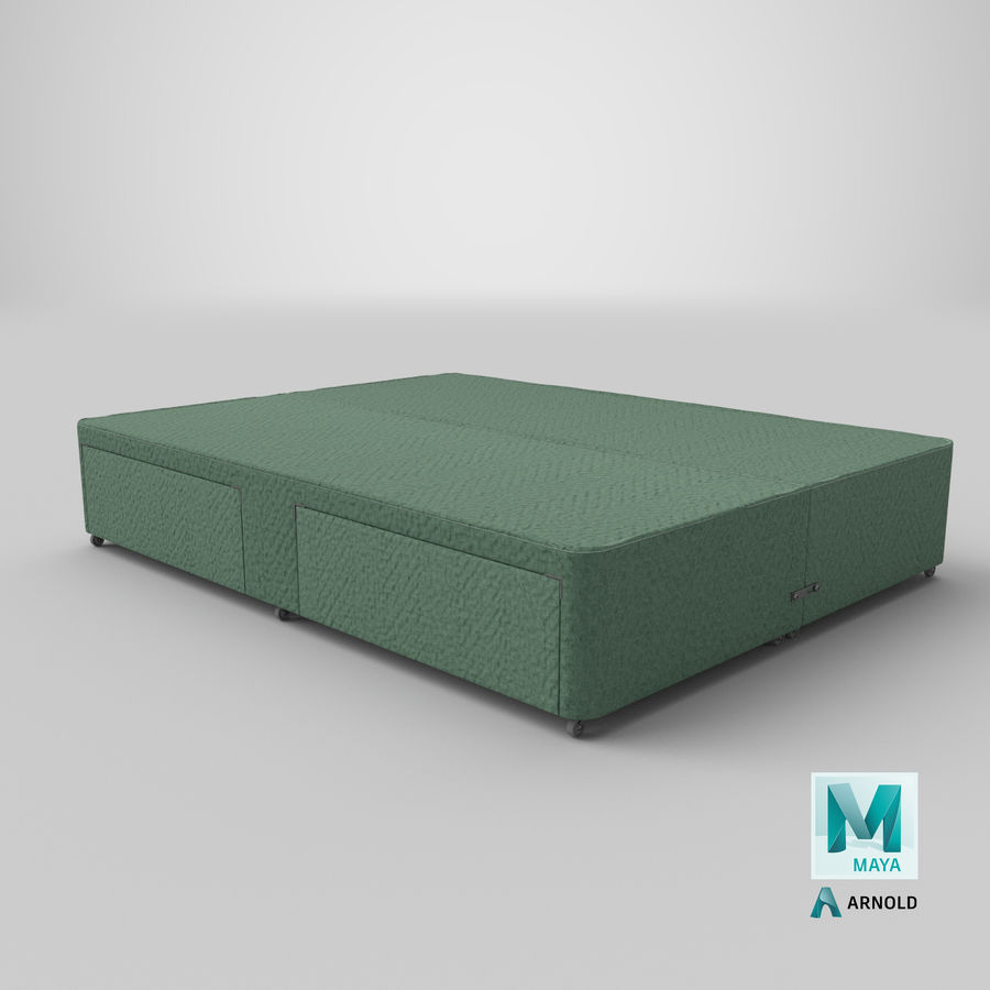 Bed Base 01 Mint royalty-free 3d model - Preview no. 26
