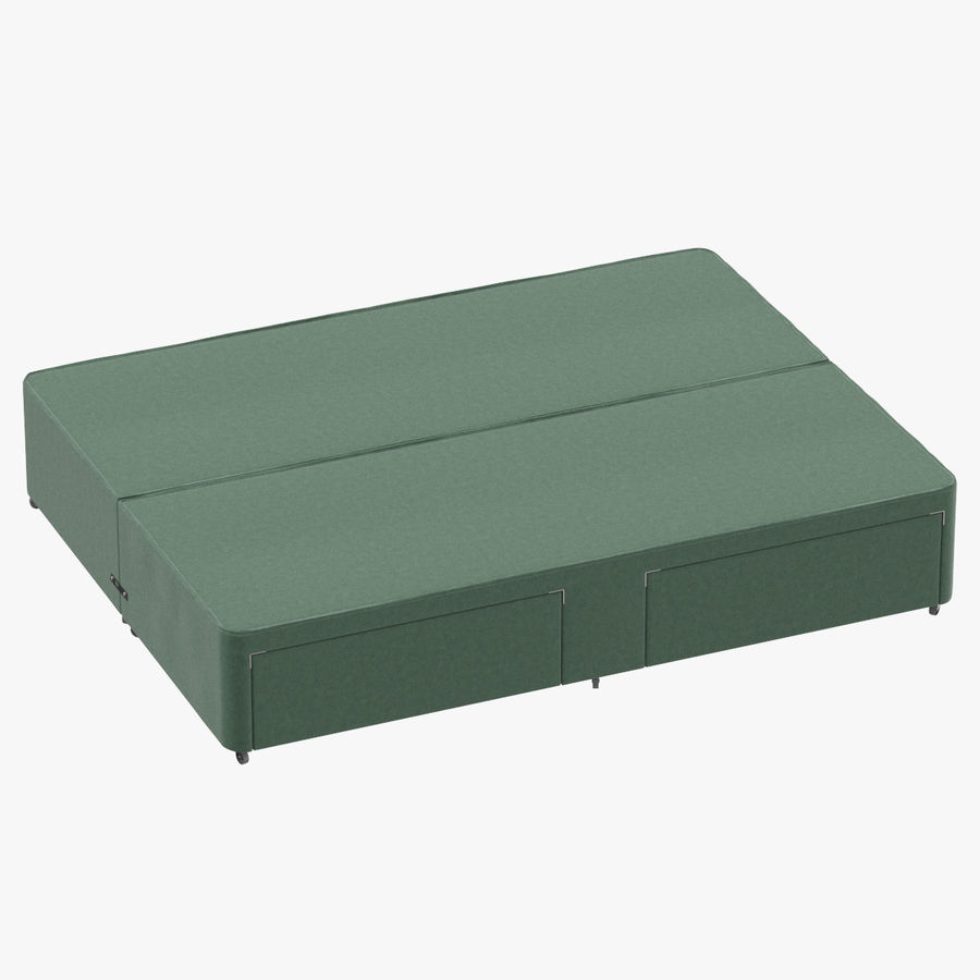 Bed Base 01 Mint royalty-free 3d model - Preview no. 1