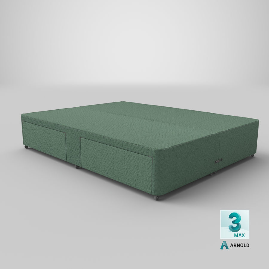 Bed Base 01 Mint royalty-free 3d model - Preview no. 23