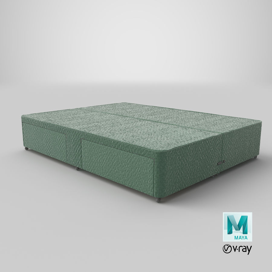 Bed Base 01 Mint royalty-free 3d model - Preview no. 28