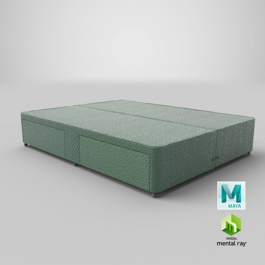 Bed Base 01 Mint royalty-free 3d model - Preview no. 27