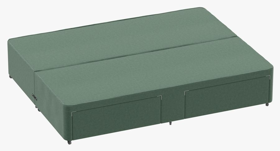 Bed Base 01 Mint royalty-free 3d model - Preview no. 2