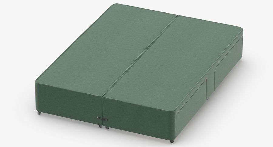 Bed Base 01 Mint royalty-free 3d model - Preview no. 4