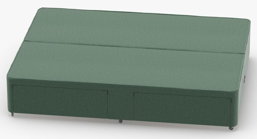 Bed Base 01 Mint royalty-free 3d model - Preview no. 5