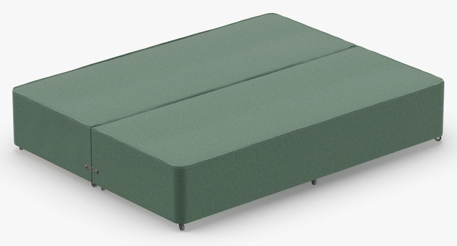 Bed Base 01 Mint royalty-free 3d model - Preview no. 6