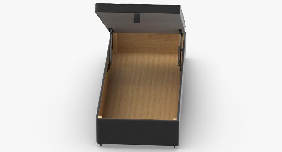 Основание кровати 02 Открытый уголь royalty-free 3d model - Preview no. 7