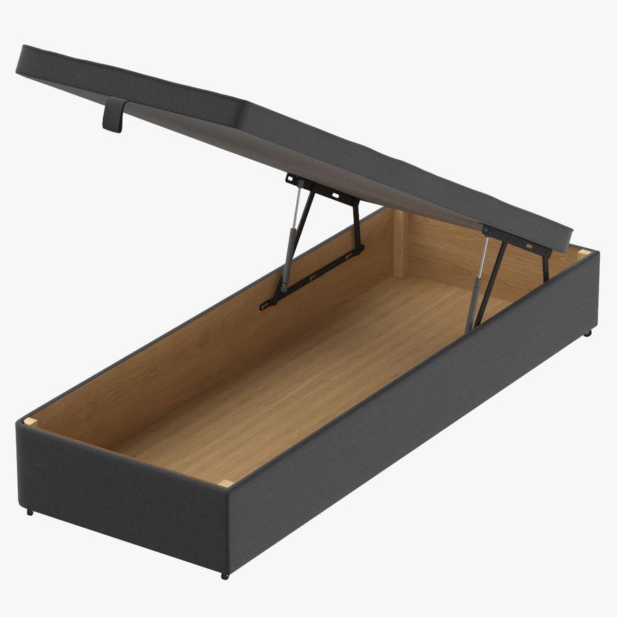 Основание кровати 02 Открытый уголь royalty-free 3d model - Preview no. 1