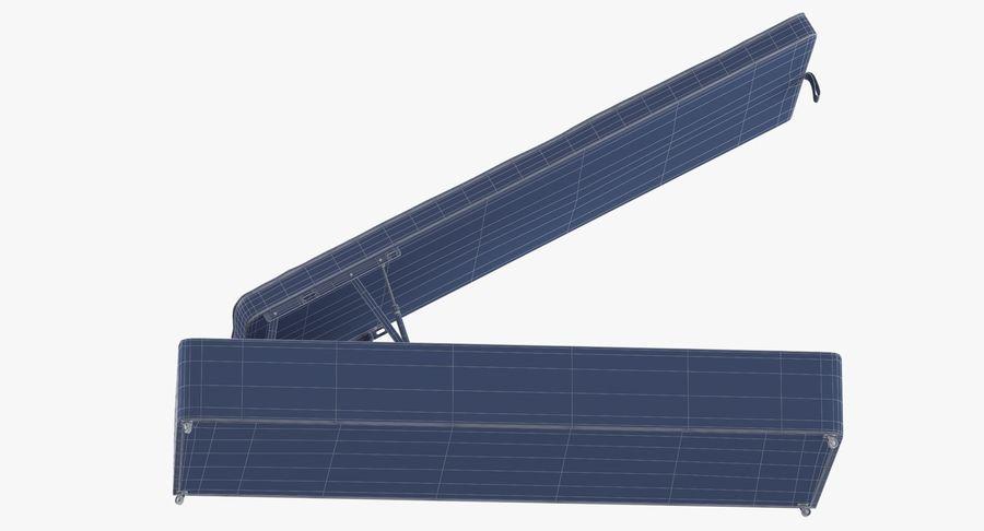 Основание кровати 02 Открытый уголь royalty-free 3d model - Preview no. 16