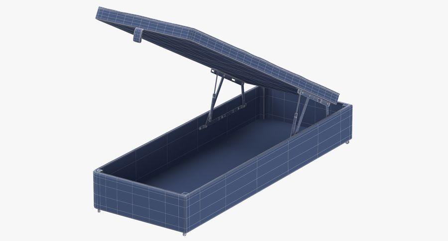 Основание кровати 02 Открытый уголь royalty-free 3d model - Preview no. 10