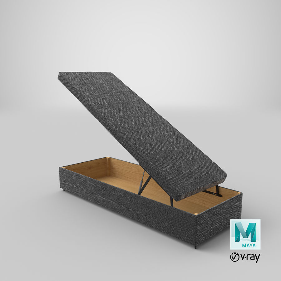Bed Base 02 Open Charcoal royalty-free 3d model - Preview no. 27
