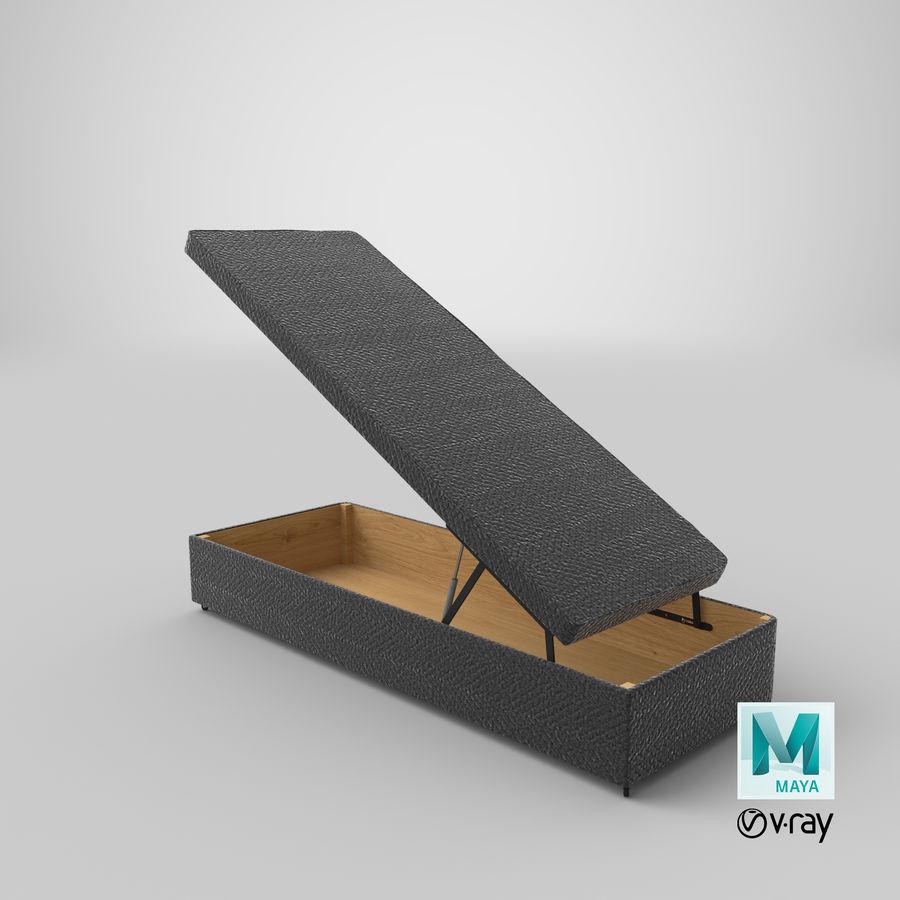 Podstawa łóżka 02 Open Charcoal royalty-free 3d model - Preview no. 27