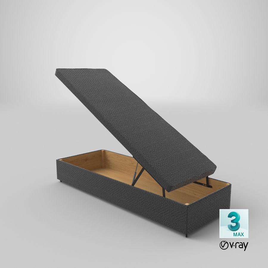 Основание кровати 02 Открытый уголь royalty-free 3d model - Preview no. 24