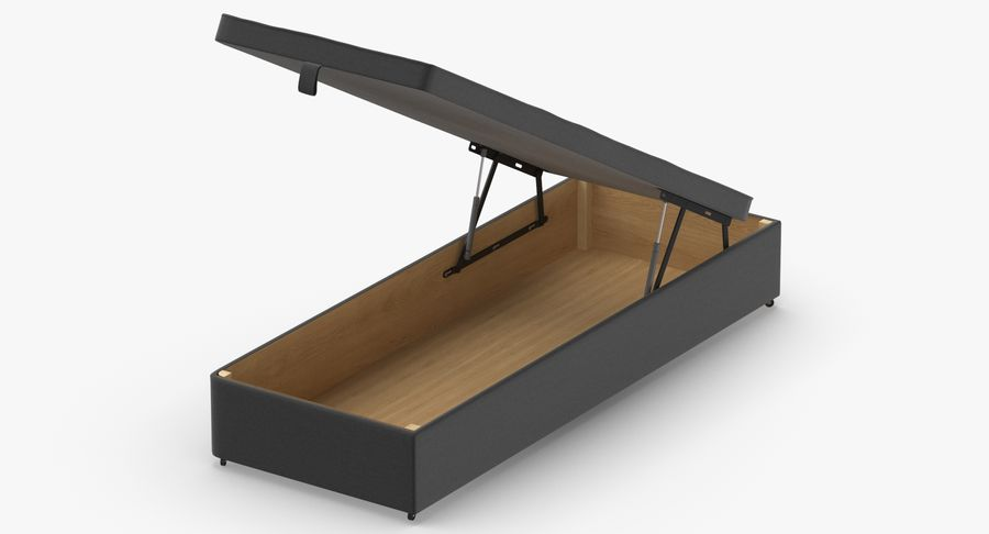Podstawa łóżka 02 Open Charcoal royalty-free 3d model - Preview no. 3
