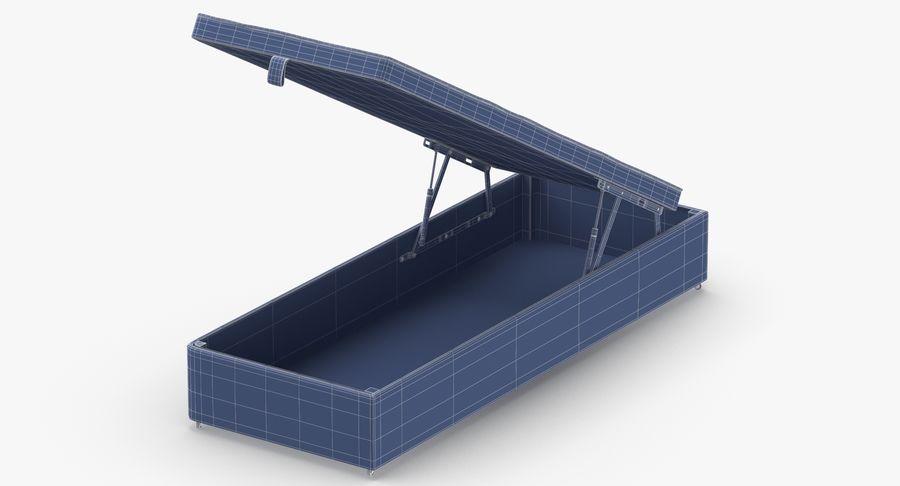 Основание кровати 02 Открытый уголь royalty-free 3d model - Preview no. 11
