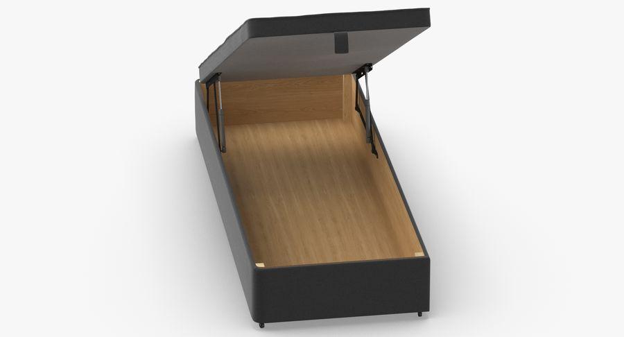 Основание кровати 02 Открытый уголь royalty-free 3d model - Preview no. 4