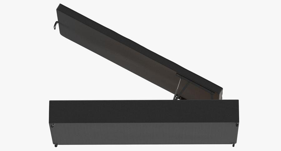 Основание кровати 02 Открытый уголь royalty-free 3d model - Preview no. 9