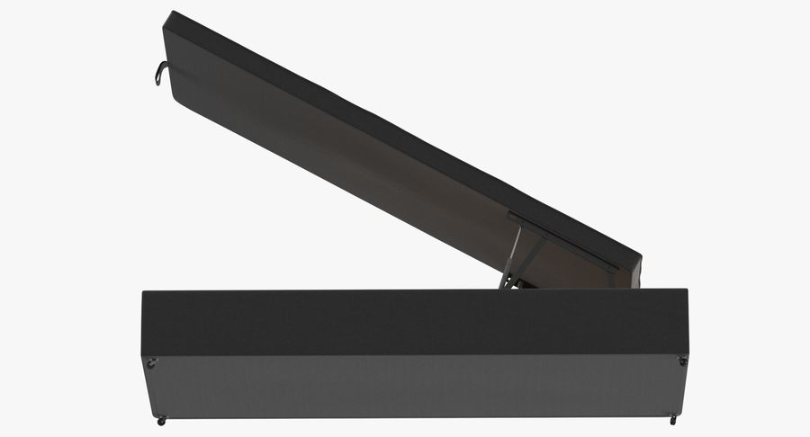 Podstawa łóżka 02 Open Charcoal royalty-free 3d model - Preview no. 9