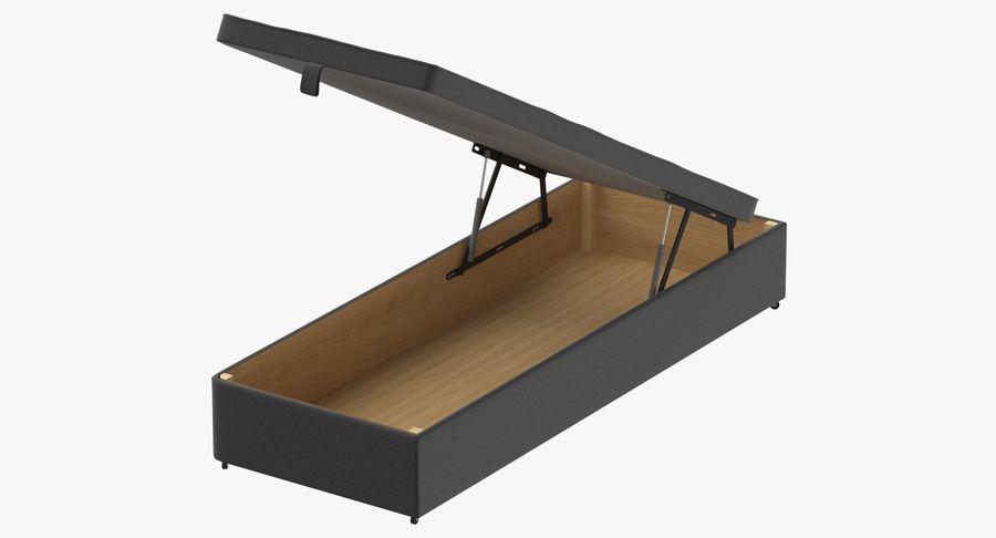 Основание кровати 02 Открытый уголь royalty-free 3d model - Preview no. 2