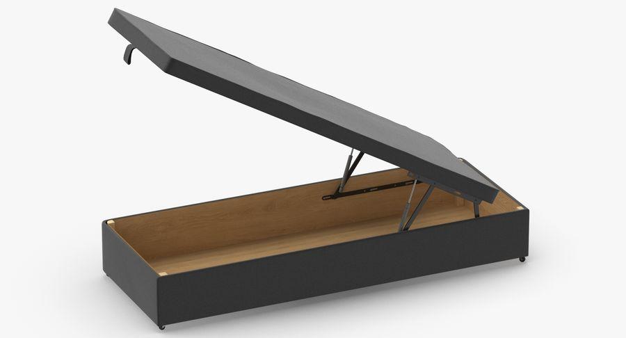 Основание кровати 02 Открытый уголь royalty-free 3d model - Preview no. 5