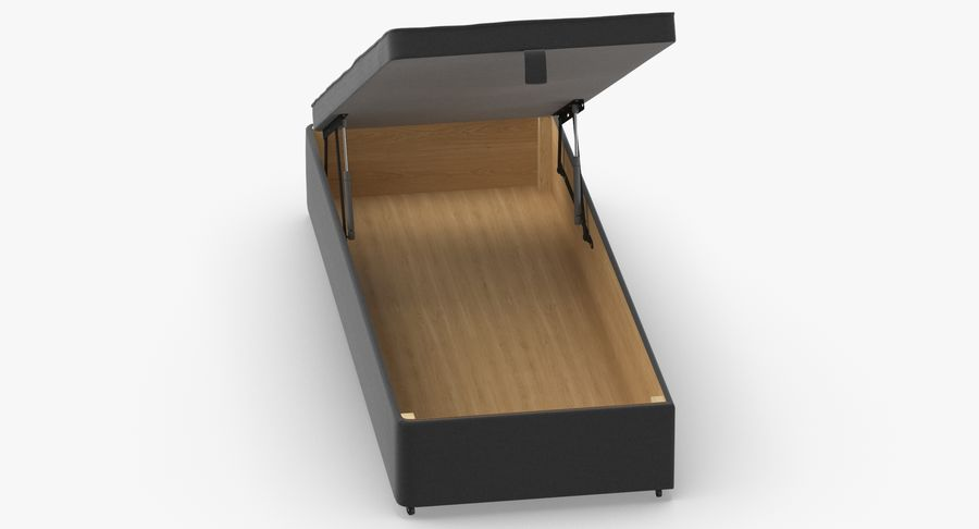 Bed Base 02 Open Charcoal royalty-free 3d model - Preview no. 4