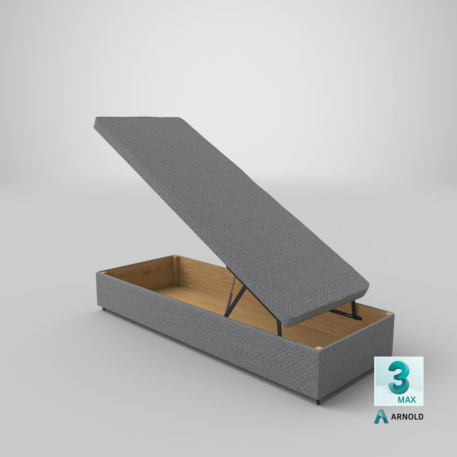 Bed Base 02 Open Grey royalty-free 3d model - Preview no. 22