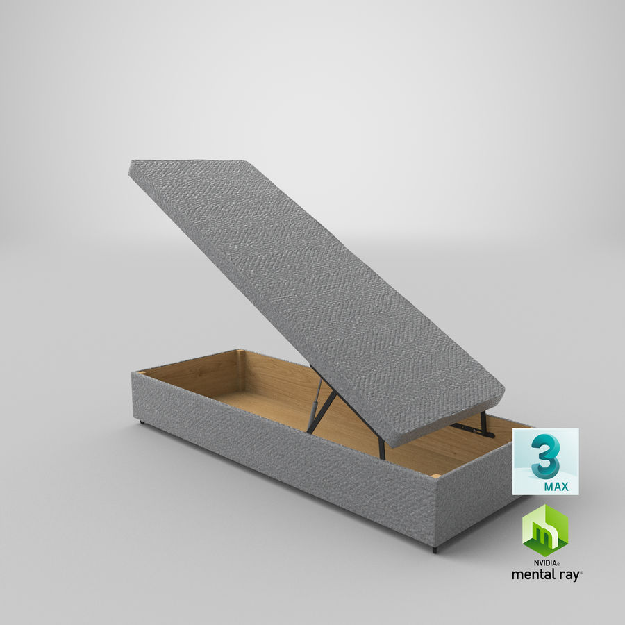 Bed Base 02 Open Grey royalty-free 3d model - Preview no. 23