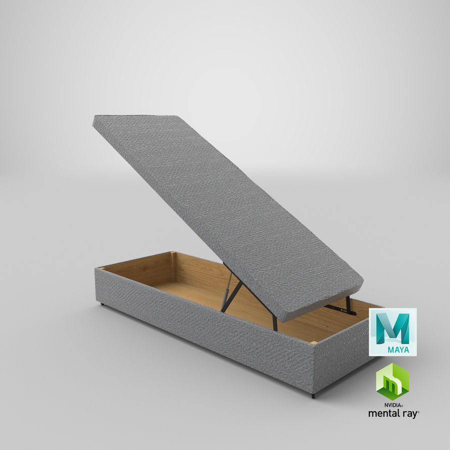 Bed Base 02 Open Grey royalty-free 3d model - Preview no. 26