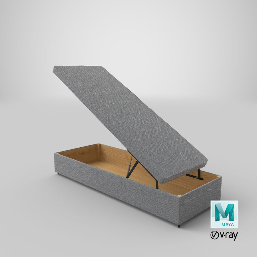 Bed Base 02 Open Grey royalty-free 3d model - Preview no. 27