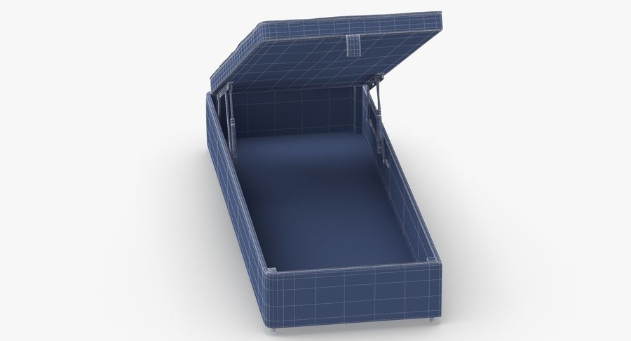 Bed Base 02 Open Grey royalty-free 3d model - Preview no. 12