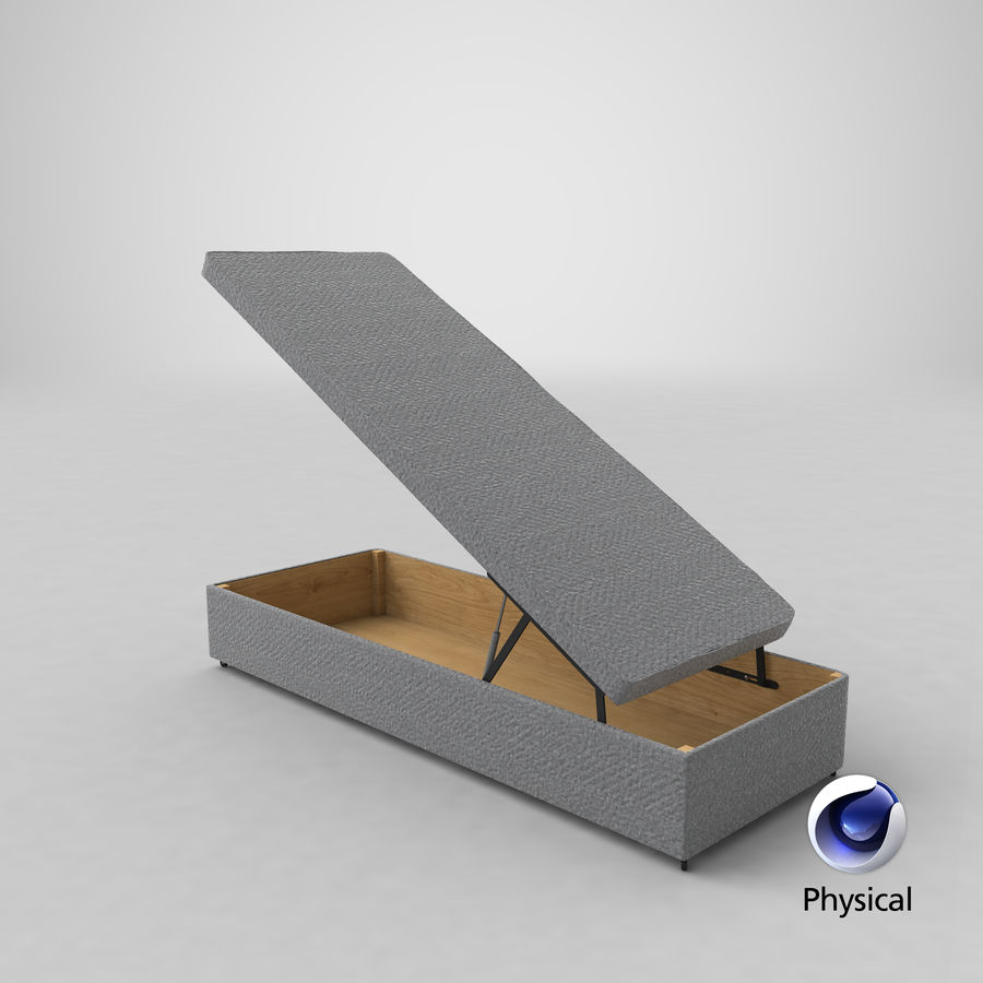 Bed Base 02 Open Grey royalty-free 3d model - Preview no. 20